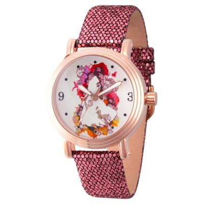 Women's Disney Princess Belle Rose Gold Vintage Alloy Watch- Purple