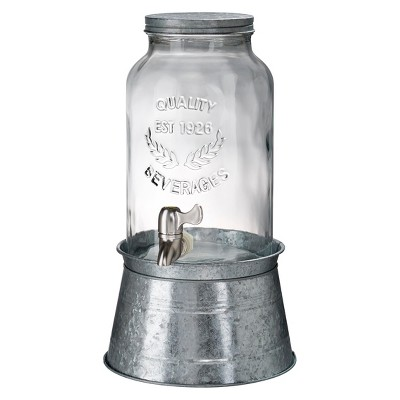 Masonware Beverage Jar with Galvanized Stand, 1.5gal
