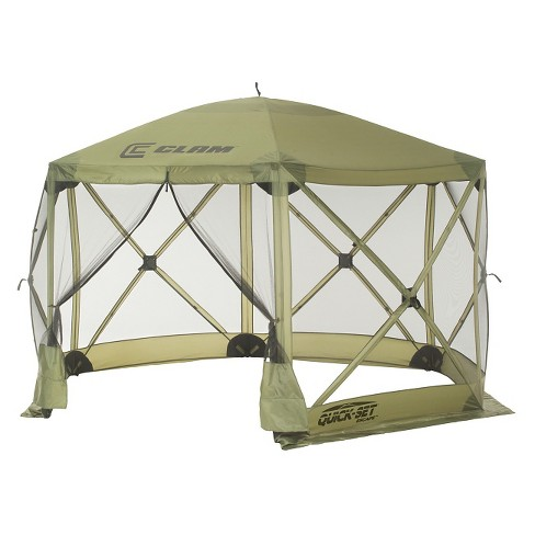 Clam Outdoors Quick-Set® Escape™ Screen Shelter - 6 Sided (Green) - image 1 of 2