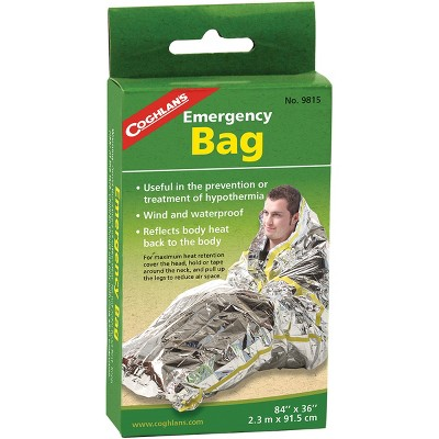 Coghlan's Emergency Bag, Wind & Waterproof, Camping Survival Heat Retention