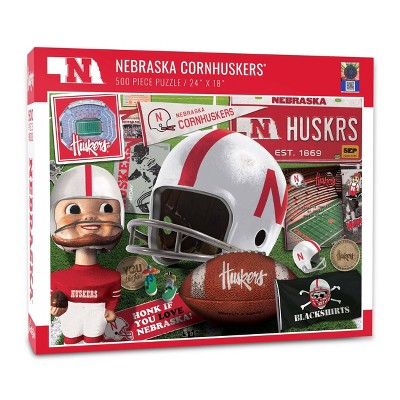 NCAA Nebraska Cornhuskers Throwback Puzzle 500pc