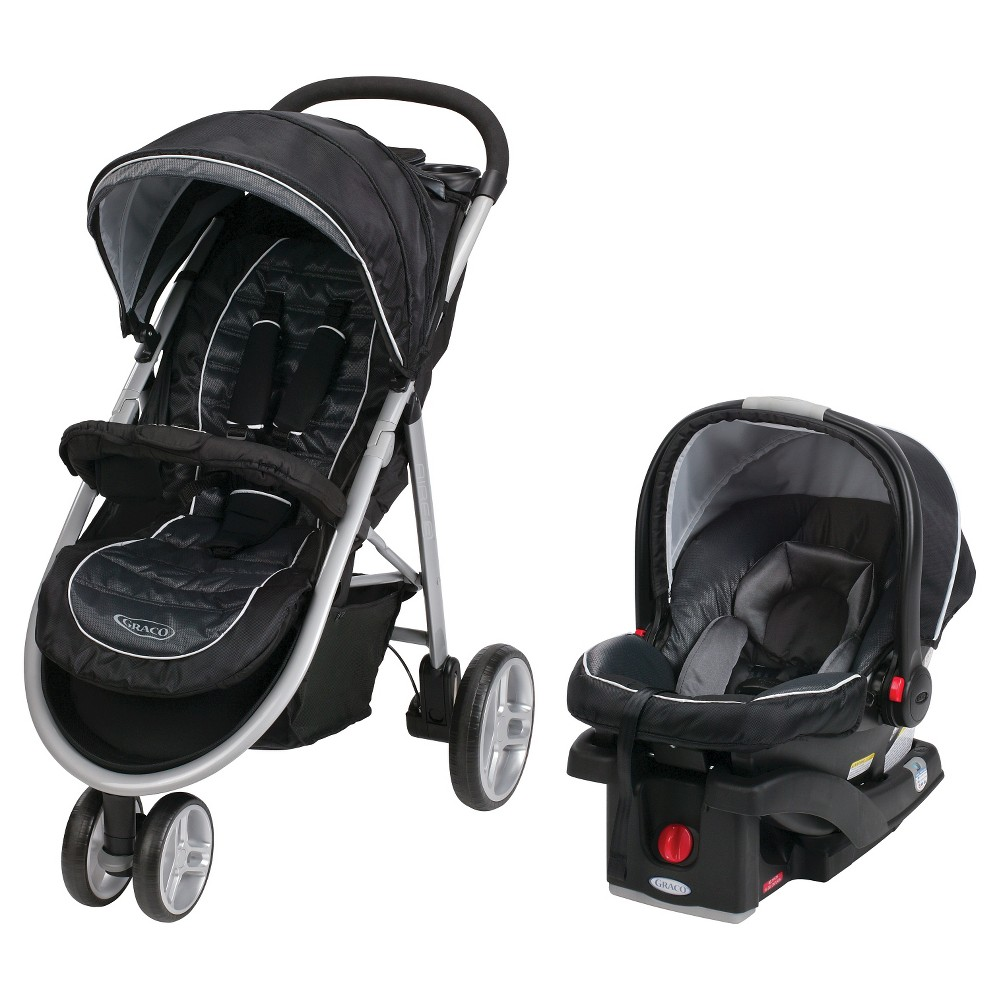 Graco Aire3 Click Connect Travel System SnugRide Click Connect 35 - Gotham, Gray