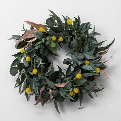 Faux Olive Leaf & Crespedia Wreath - Hearth & Hand™ with Magnolia