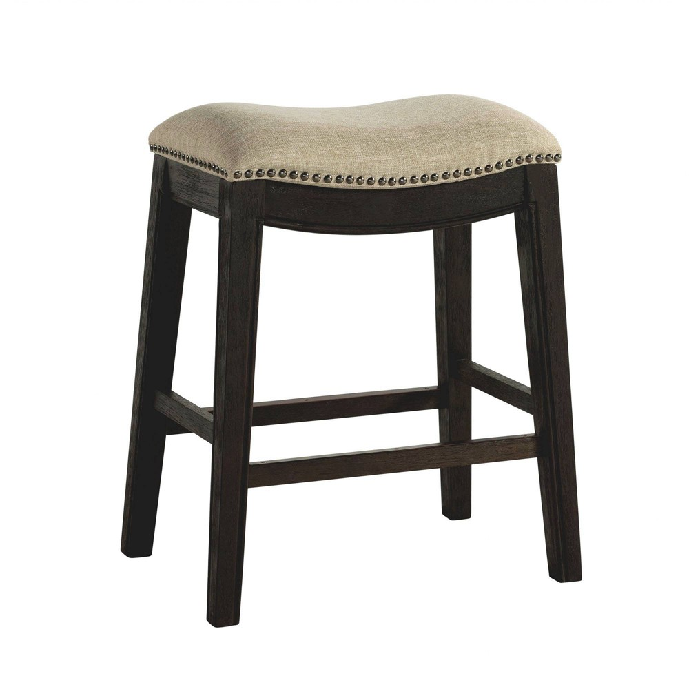 Image of 1pc Miles Backless Counter Stool Taupe - Picket House Furnishings