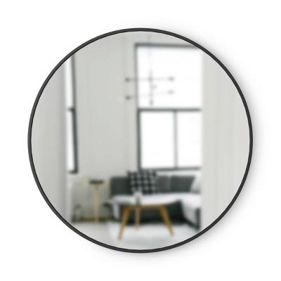 "37"" Hub Round Wall Mirror Black - Umbra"