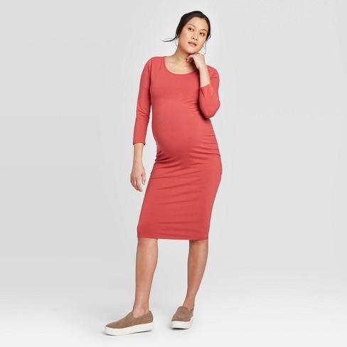 3 4 Sleeve T Shirt Maternity Dress Isabel Maternity By Ingrid Isabel Rose S Target
