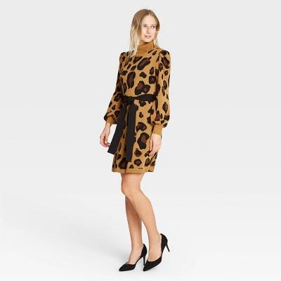 Women's Balloon Long Sleeve Sweater Dress - Who What Wear™