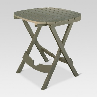 Quik-Fold Patio Bistro Table - Gray - Adams Manufacturing