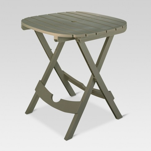 About this item - Quik-Fold Patio Bistro Table - Gray - Adams Manufacturing : Target