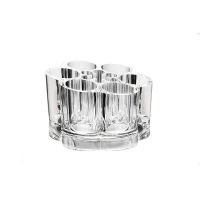 Juvale 12 Slots Clear Acrylic Makeup Organizer, Lipstick Holder (3.5 x 3.5 x 2.3 in)