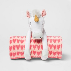 "50""x60"" Unicorn Throw Blanket Pink - Pillowfort™"