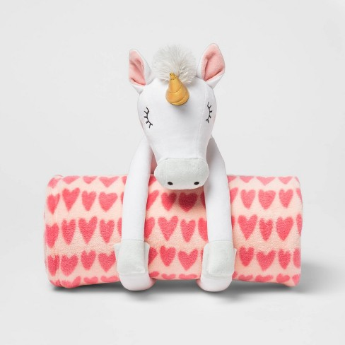 "50""x60"" Unicorn Throw Blanket Pink - Pillowfort™ - image 1 of 2"