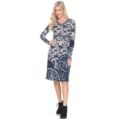 Women's Naarah Embroidered Sweater Dress - White Mark