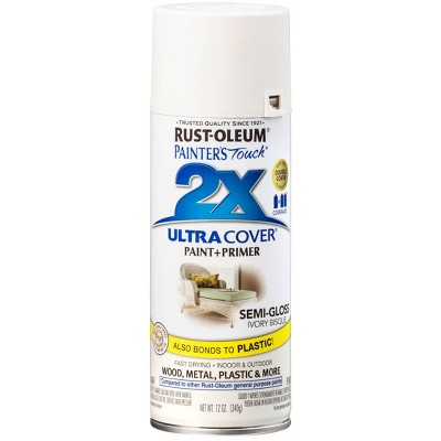 Rust-Oleum Painter's Touch 2X Ultra Cover Semi-Gloss Ivory Bisque Spray Paint 12oz