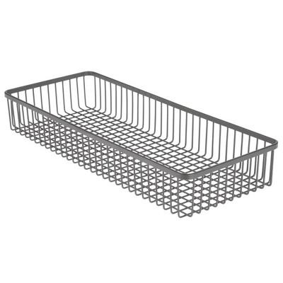 "mDesign Metal Kitchen Cabinet Drawer Organizer Tray, 15"" Long - 8 Pack"