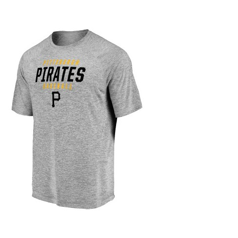 MLB Pittsburgh Pirates Men's Mad Dash Gray Athleisure T-Shirt - image 1 of 3