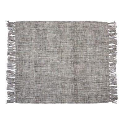 Gray Solid Throw Pillow 50 X60  - Mina Victory