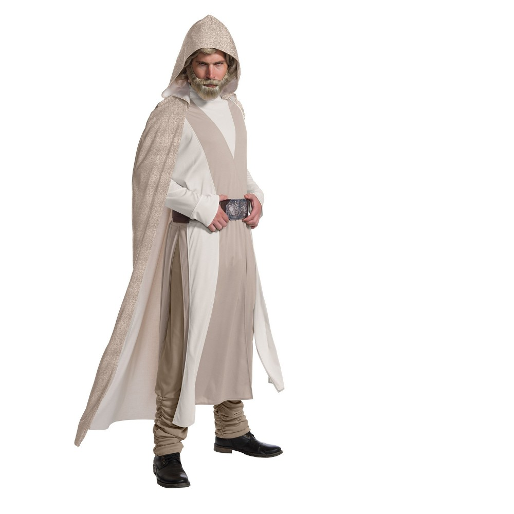 Image of Halloween Star Wars Episode VIII - The Last Jedi Deluxe Men's Luke Skywalker Costume L, Size: Small, MultiColored