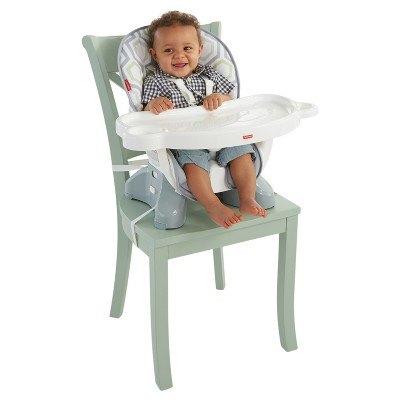 Fisher Price Baby Geometric Print Hook On High Chair Light  Gray/White/Meadow Green : Target