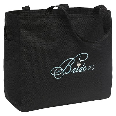 Bride Diamond Wedding Gift Tote Bag - Black
