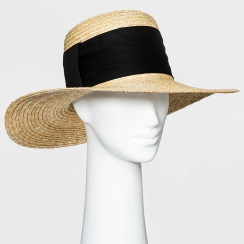 Women's Straw Boater Hat - A New Day™ - image 1 of 1