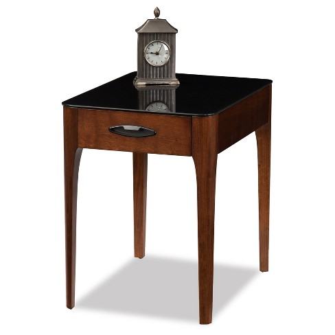 Obsidian Drawer End Table - Chestnut - Leick Home - image 1 of 1