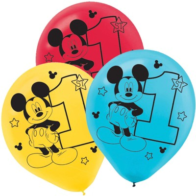 Birthday Express Mickey Mouse 1st Birthday Latex Balloon