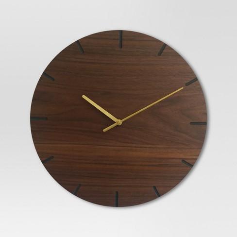 Wood 16 Clock Brass Walnut Finish Project 62