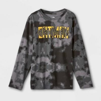 Boys' Batman Long Sleeve Graphic T-Shirt - Black