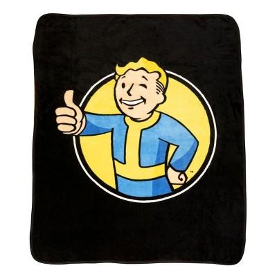 Just Funky Fallout Vault Boy Lightweight Fleece Throw Blanket | 45 x 60 Inches