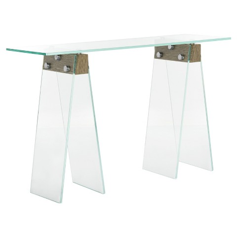 Modern Loft Console Table - Clear - Safavieh® - image 1 of 4