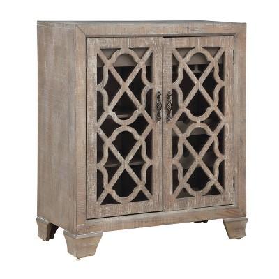 2 Door Spirits Wine Cabinet Brown - Treasure Trove