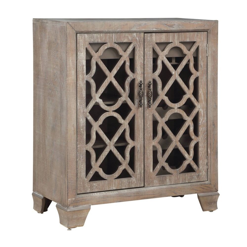 Image of 2 Door Spirits Wine Cabinet Brown - Treasure Trove
