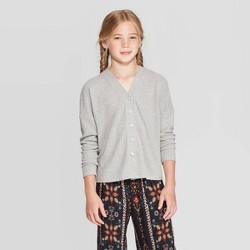 Girls' Long Sleeve Cardigan - art class™