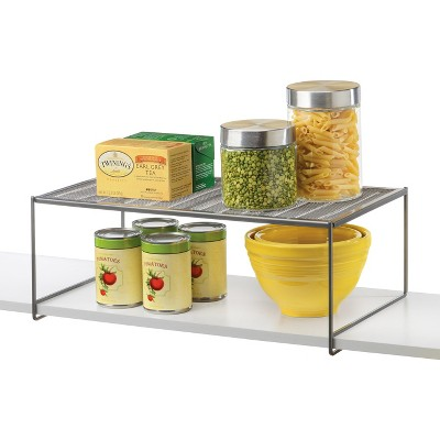 Lynk Locking Large Kitchen Pantry Cabinet Shelf - Closet Shelf Organizer - Platinum