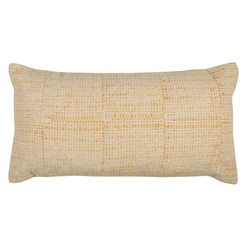 Image of Rizzy Home Textured Solid Throw Pillow Yellow
