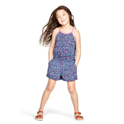 9f32c23d75a5e Girls' School Of Whale Sleeveless Scoop Neck Romper - Pink/Blue - Vineyard  Vines® For Target : Target