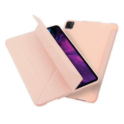 """Insten - Tablet Case for iPad Pro 11"""" 2020, Multifold Stand, Magnetic Cover Auto Sleep/Wake, Pencil Charging, Light Pink"""