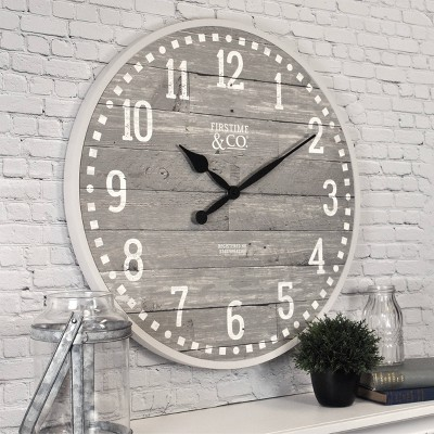 "20"" Arlo Gray Farmhouse Wall Clock Light Gray - FirsTime & Co."