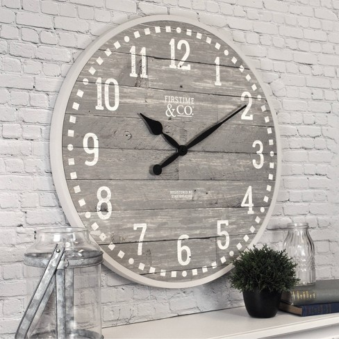 20 Arlo Gray Farmhouse Wall Clock Light Gray Firstime Co Target