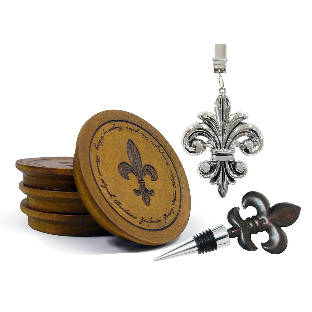 Image of Epicureanist Fleur de Lis Entertaining Gift Set