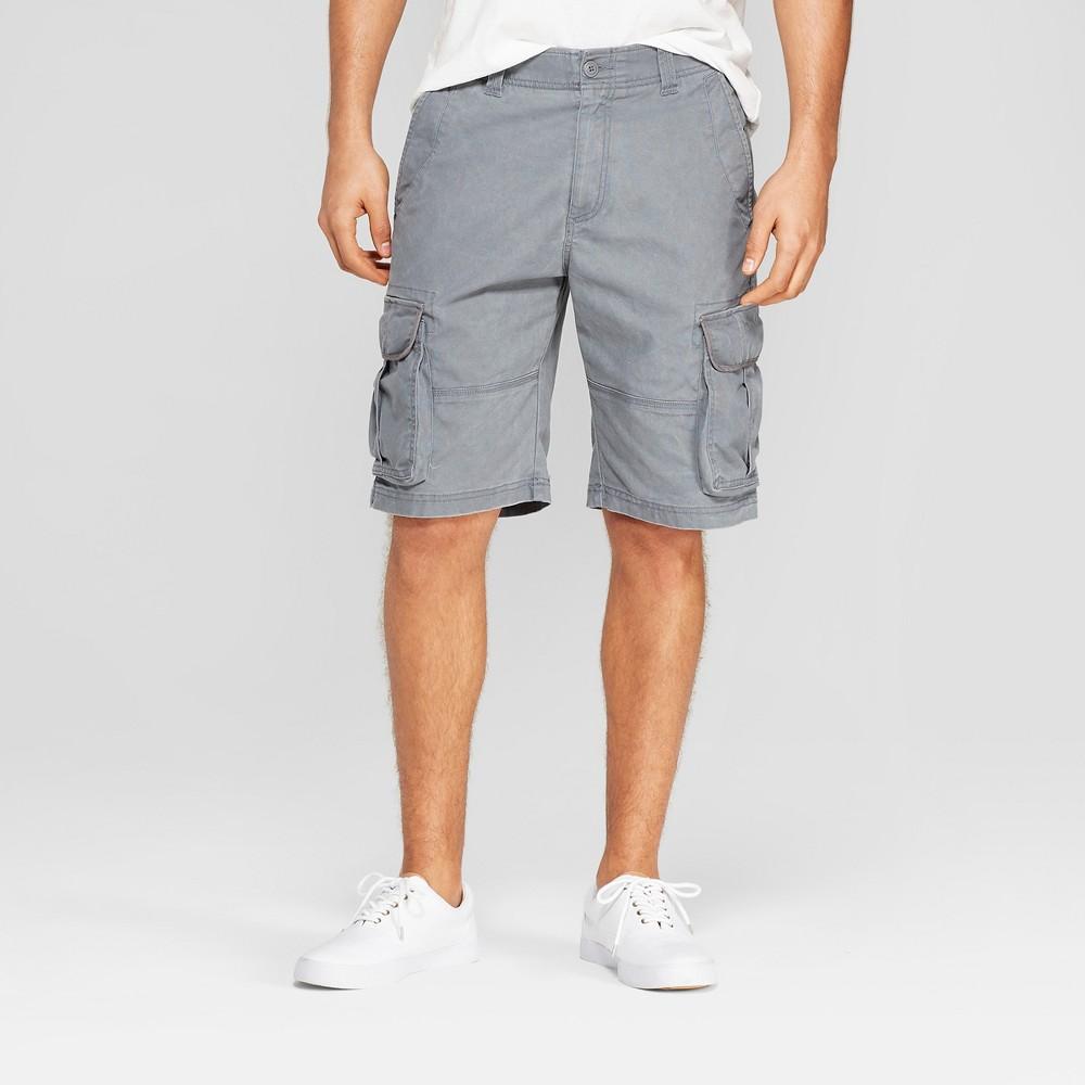 Men's 11 Cargo Shorts - Goodfellow & Co Gray 36