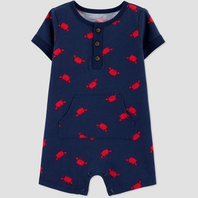 Baby Boys' One Piece Lobster Romper - Just One You® made by carter's Blue Newborn