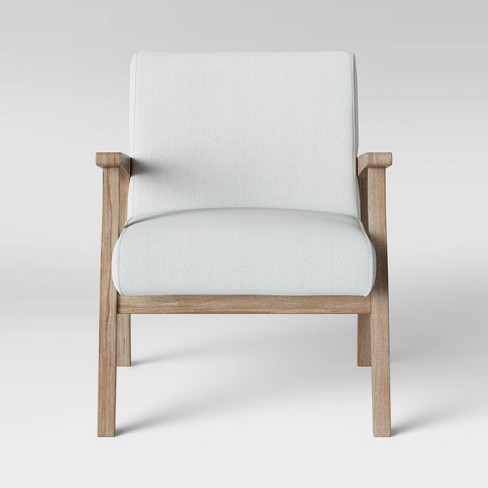 Maynard Wood Frame Accent Chair with Channel Tufting - Threshold™ - image 1 of 5