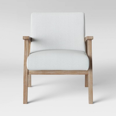 Maynard Wood Frame Accent Chair With Channel Tufting   Threshold™