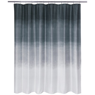 Metallic Ombre Glimmer Shower Curtain Gray - Allure Home Creation