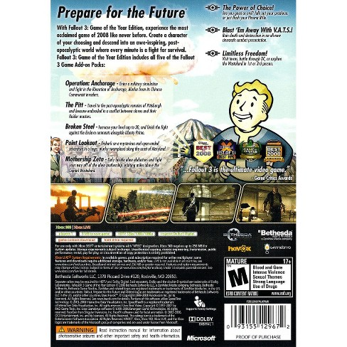 fallout 3 game of the year edition xbox 360 download