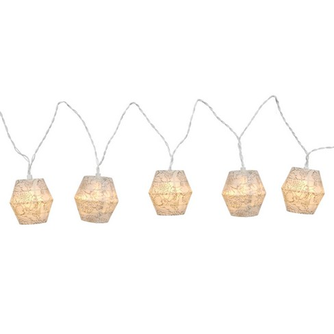 LED Paper White Floral String Lights White - Room Essentials™ - image 1 of 1
