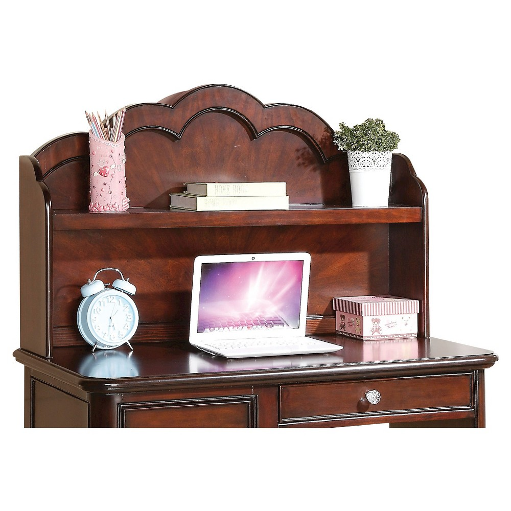 Image of Cecilie Kids Computer Hutch - Cherry - Acme, Red