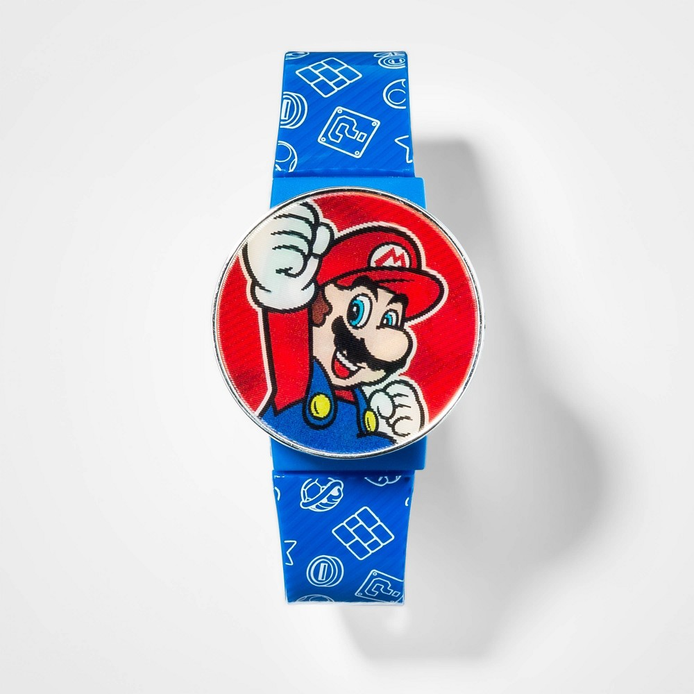 Image of Boys' Super Mario Flashing LCD Watch, Boy's, Size: Small, MultiColored